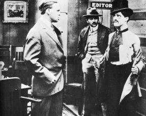 "Scene from ""Makin A Living"", Charlie Chaplin's first movie (1914)"