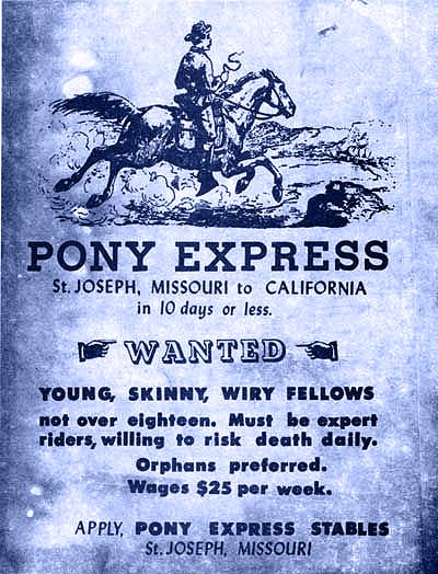 Pony Express Job Ad